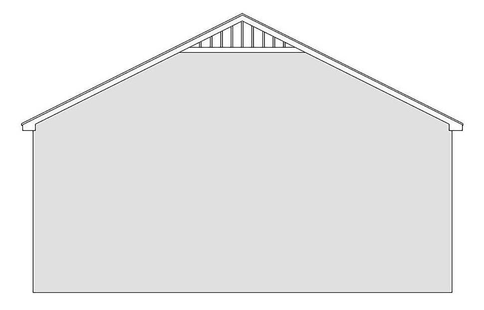 Traditional 3 Car Garage Plan 51626, RV Storage Rear Elevation