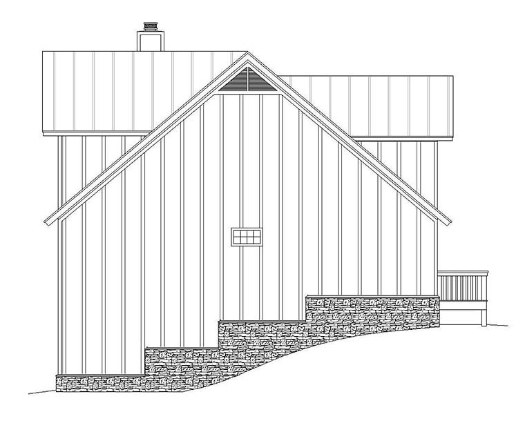 Country, Traditional Garage-Living Plan 51645 with 3 Beds, 4 Baths, 2 Car Garage Picture 1
