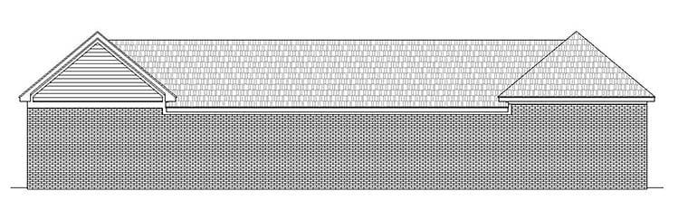 Traditional 6 Car Garage Plan 51651, RV Storage Rear Elevation
