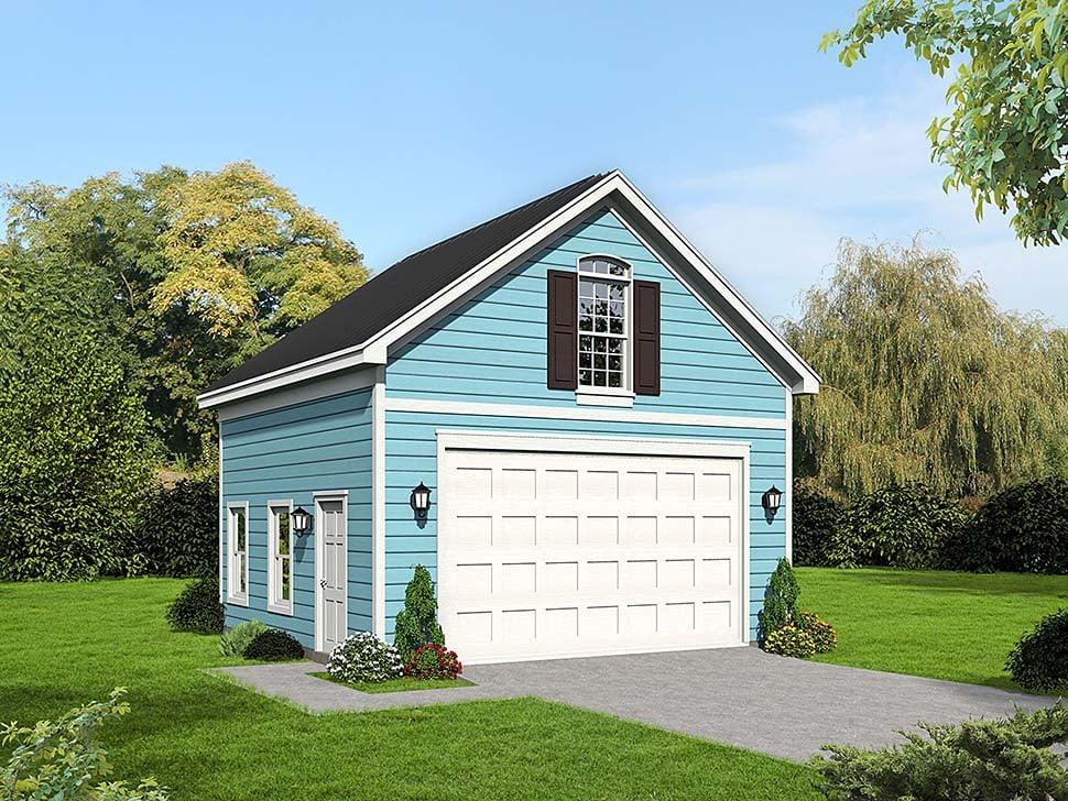Cape Cod, Colonial, Cottage, Country, Farmhouse, Prairie, Ranch, Saltbox, Traditional, Tudor 2 Car Garage Plan 51669 Elevation