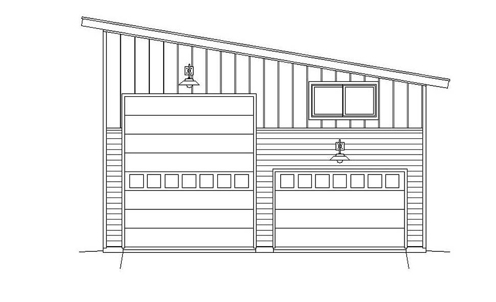 Contemporary, Modern 4 Car Garage Plan 51671, RV Storage Picture 3