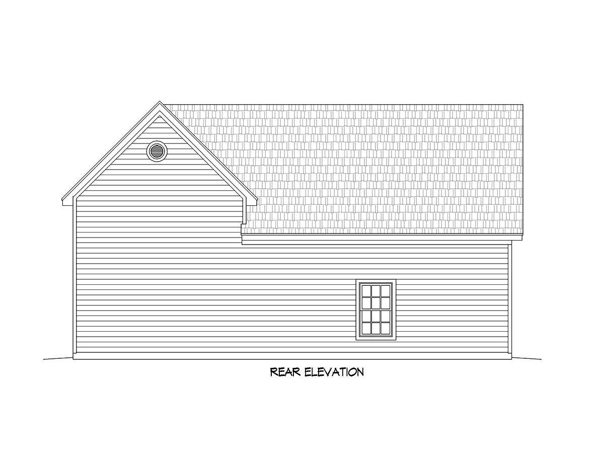 Ranch, Traditional 3 Car Garage Plan 51677, RV Storage Rear Elevation