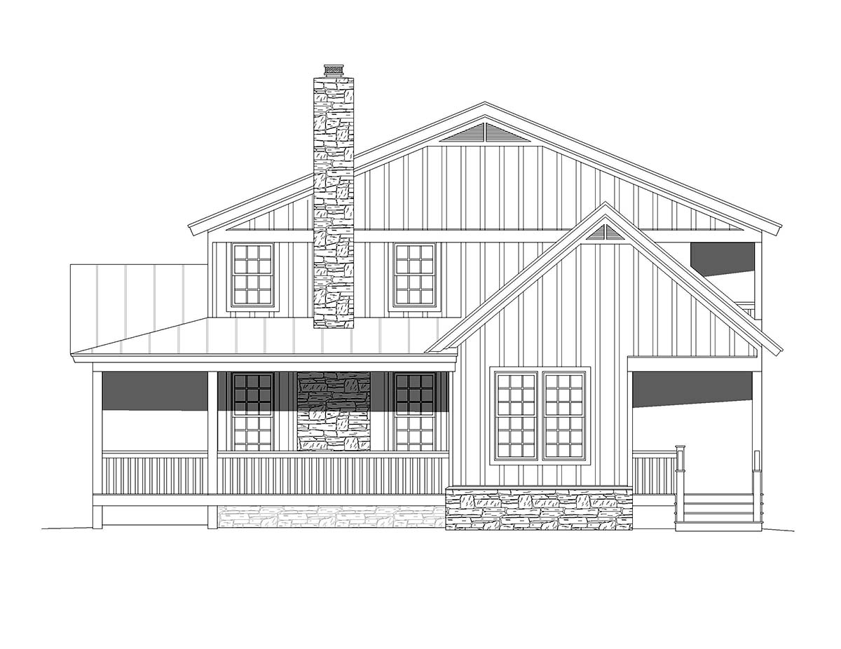 Country, Farmhouse, Traditional House Plan 51678 with 4 Beds, 3 Baths Picture 1