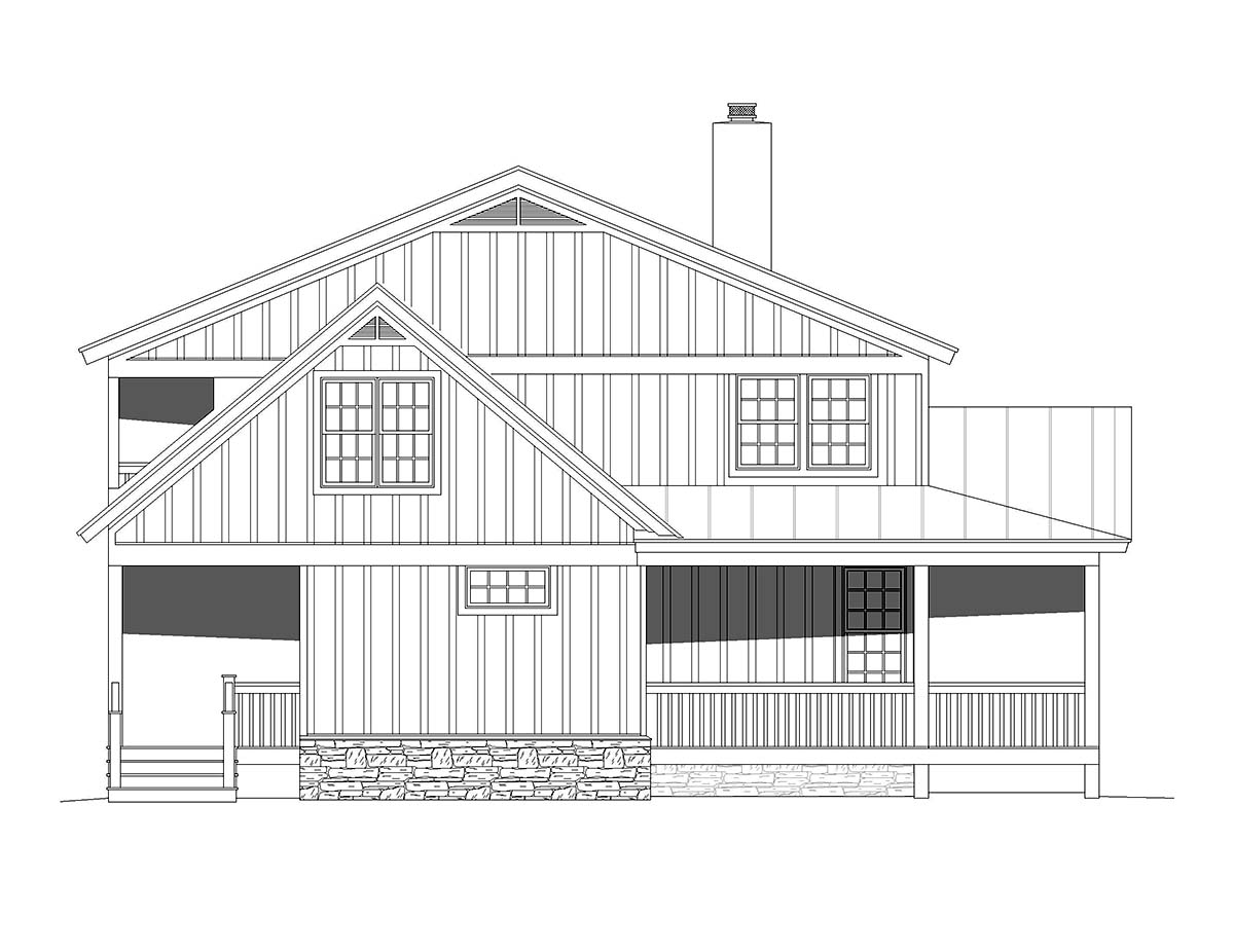 Country, Farmhouse, Traditional House Plan 51678 with 4 Beds, 3 Baths Picture 2