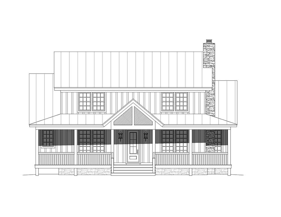 Country, Farmhouse, Traditional House Plan 51678 with 4 Beds, 3 Baths Picture 3