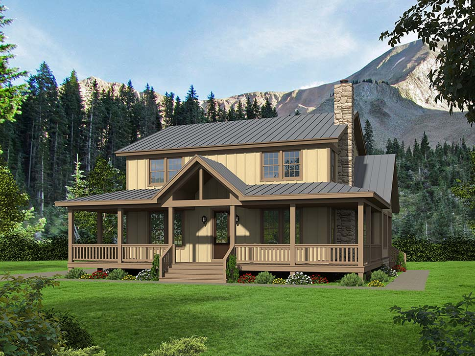 Country, Farmhouse, Traditional House Plan 51678 with 4 Beds, 3 Baths Picture 4