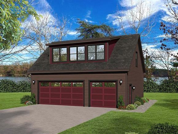 Coastal, Colonial, Country, Farmhouse, Traditional 3 Car Garage Plan 51692 Elevation