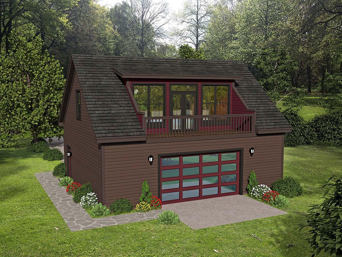 Coastal, Colonial, Country, Farmhouse, Traditional 3 Car Garage Plan 51692 Rear Elevation