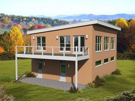 Garage-Living Plan 51695