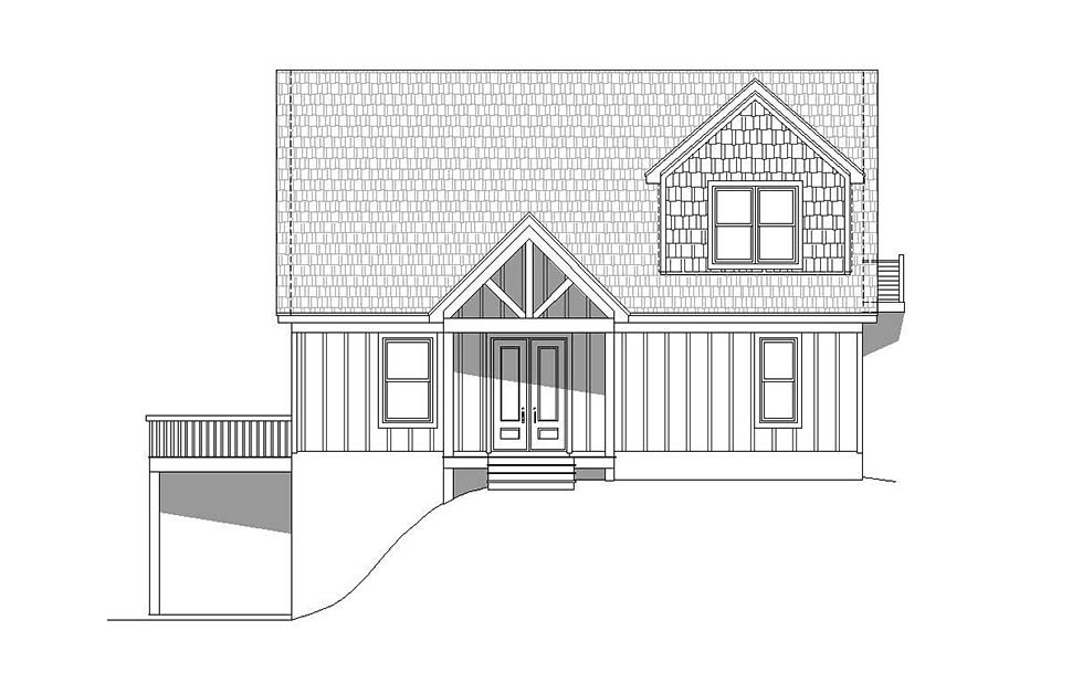 Contemporary, Country, Craftsman House Plan 51696 with 3 Beds, 2 Baths, 2 Car Garage Picture 3