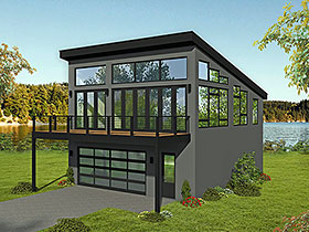 Garage-Living Plan 51698