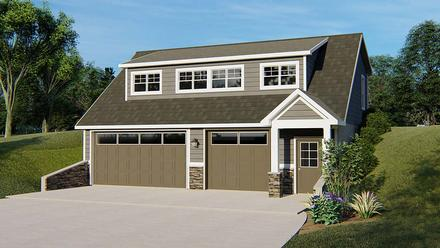 Bungalow Cottage Country Craftsman Tudor Elevation of Plan 51820