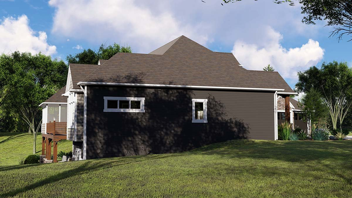 Country, Craftsman, Ranch House Plan 51854 with 4 Beds, 4 Baths, 3 Car Garage Picture 2