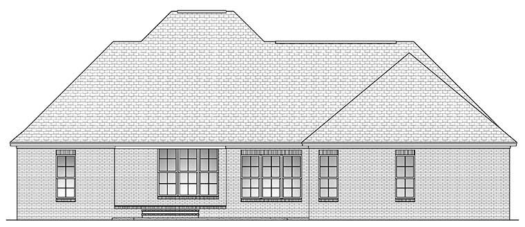 Country European French Country Southern House Plan 51907 Rear Elevation