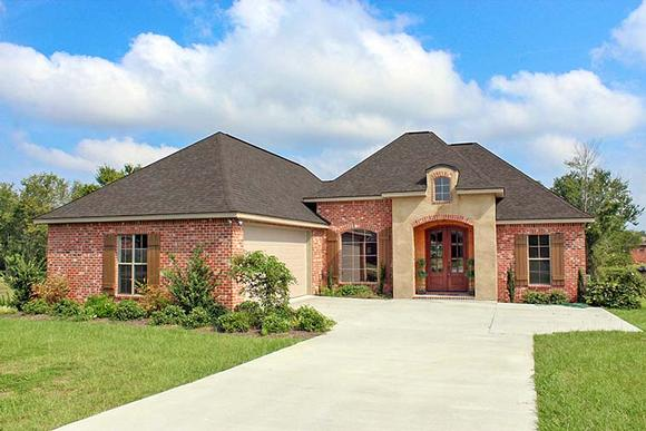 Country, European, French Country House Plan 51912 with 3 Beds, 2 Baths, 2 Car Garage Elevation