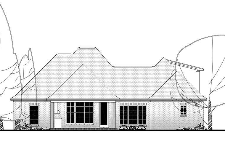 Country French Country Southern House Plan 51925 Rear Elevation