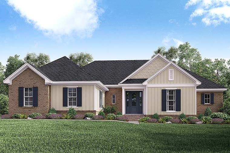 Ranch Traditional House Plan 51927 Elevation