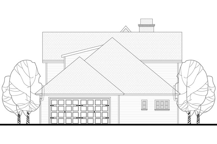 Cottage Country Craftsman Southern Traditional House Plan 51928 Rear Elevation
