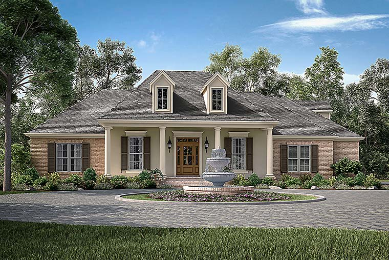 European French Country Traditional House Plan 51943 Elevation