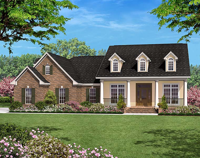 Country Ranch Traditional House Plan 51944 Elevation