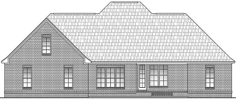 European French Country Rear Elevation of Plan 51946