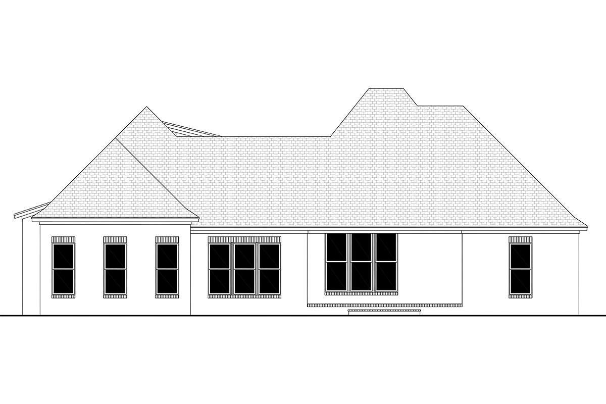 European French Country Traditional House Plan 51947 Rear Elevation