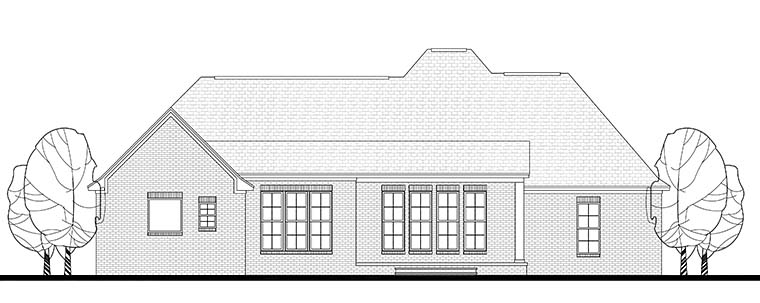 Country European French Country House Plan 51950 Rear Elevation