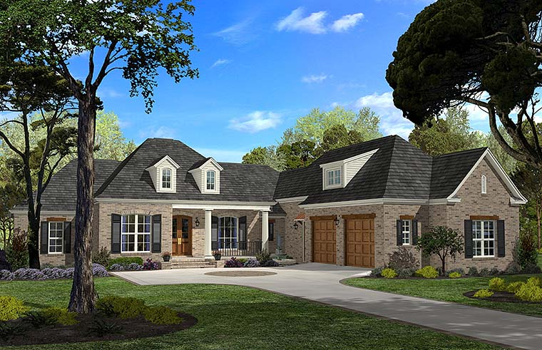Country European French Country House Plan 51956 Elevation