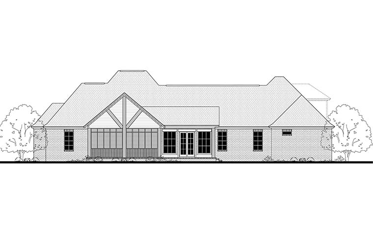 Country French Country Traditional House Plan 51960 Rear Elevation