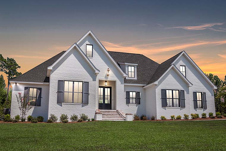 European, French Country House Plan 51967 with 4 Beds, 3 Baths, 2 Car Garage Picture 4