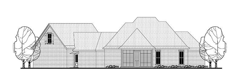 Country French Country Traditional House Plan 51969 Rear Elevation