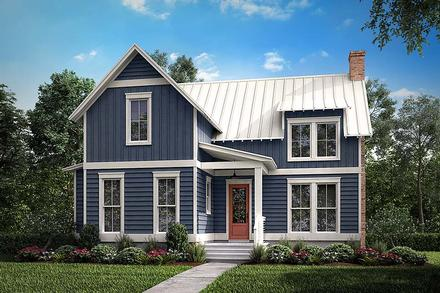 Cabin Country Farmhouse Southern Elevation of Plan 51976