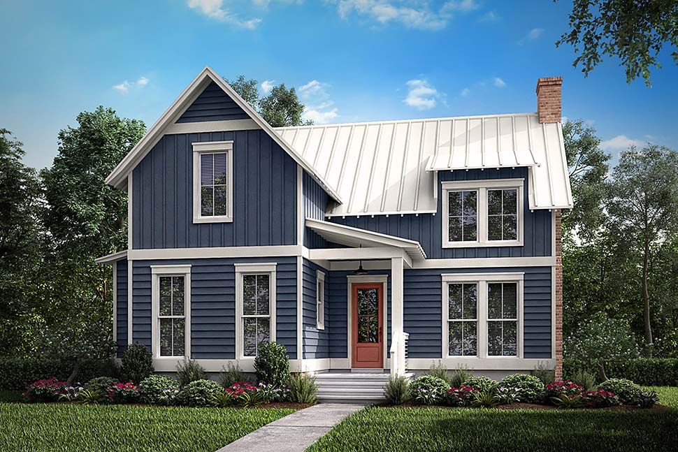 Southern Style House Plan Number 51976 With 1 Bed 1 Bath