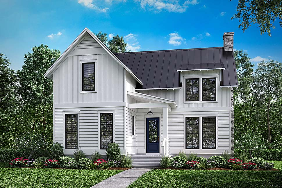 Country, Farmhouse, Southern, Traditional House Plan 51979 with 3 Beds, 3 Baths, 2 Car Garage Elevation