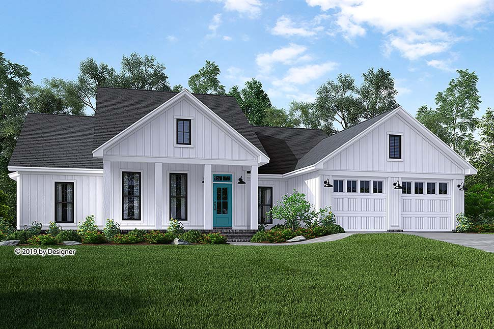 Southern Style House Plan Number 51985 with 3 Bed, 2 Bath, 2 Car Garage