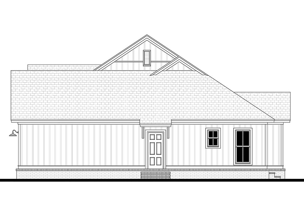 Country, Craftsman, Farmhouse, Southern House Plan 51985 with 3 Beds, 2 Baths, 2 Car Garage Picture 1