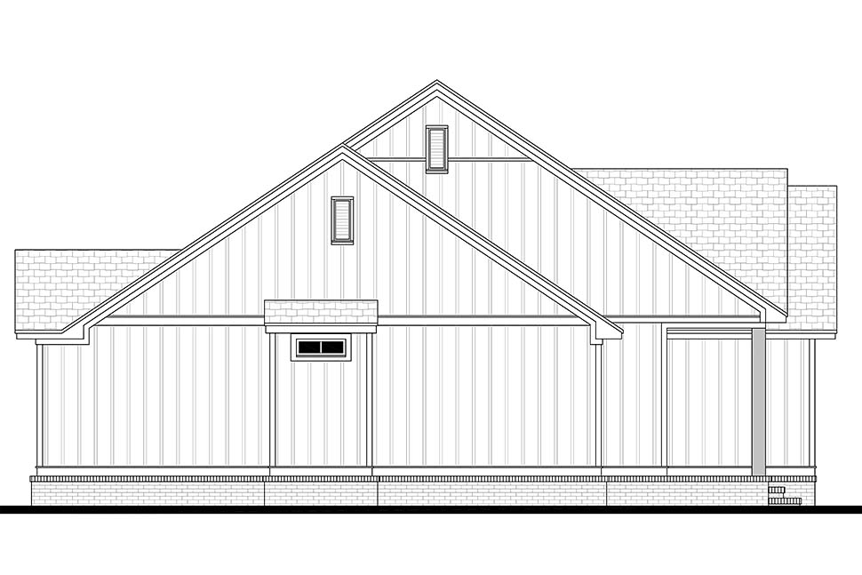 Country, Craftsman, Farmhouse, Southern House Plan 51985 with 3 Beds, 2 Baths, 2 Car Garage Picture 2