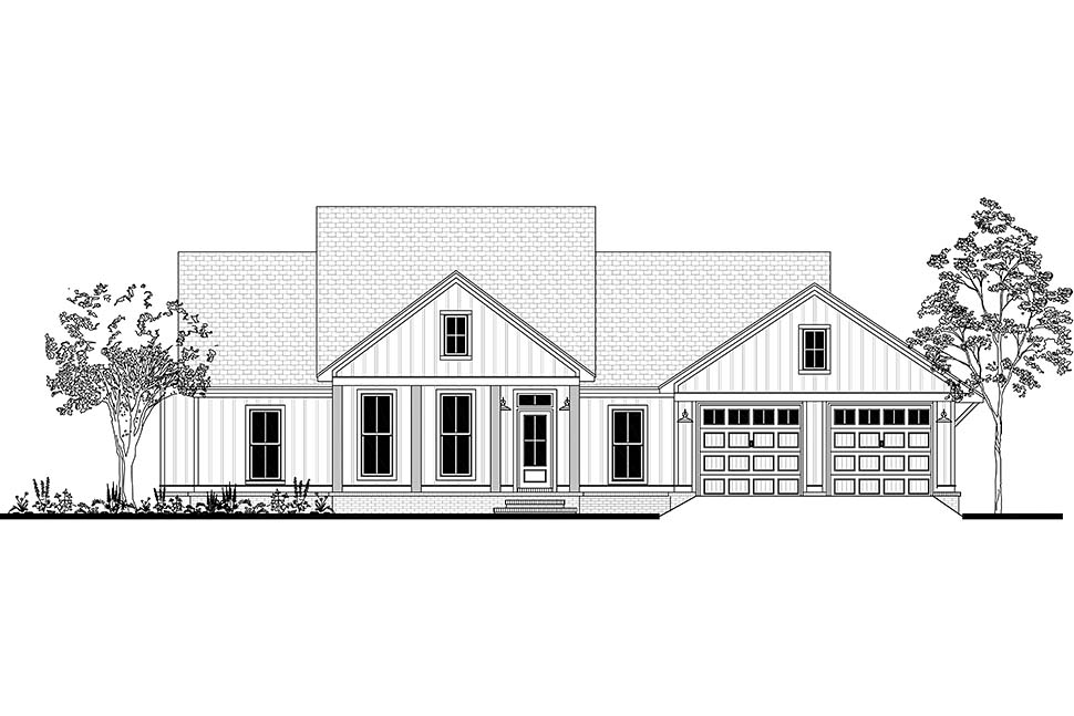Country, Craftsman, Farmhouse, Southern House Plan 51985 with 3 Beds, 2 Baths, 2 Car Garage Picture 3