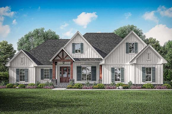 Country, Craftsman, Farmhouse House Plan 51992 with 3 Beds, 3 Baths, 2 Car Garage Elevation