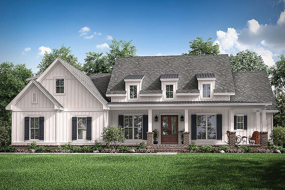 Country, Craftsman, Traditional House Plan 51993 with 3 Beds, 3 Baths, 2 Car Garage Elevation