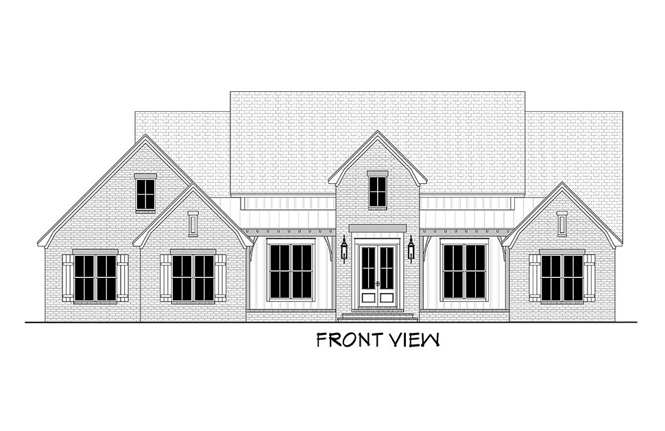 Country, Farmhouse, Traditional House Plan 51995 with 4 Beds, 4 Baths, 2 Car Garage Picture 3