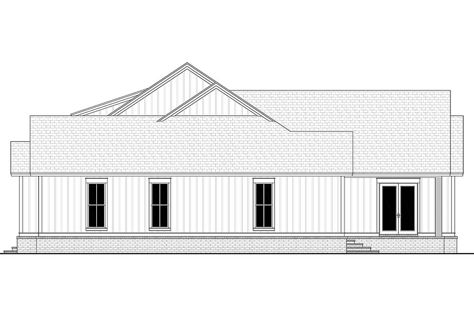 Country, Craftsman, Farmhouse House Plan 51996 with 4 Beds, 4 Baths, 2 Car Garage Picture 1