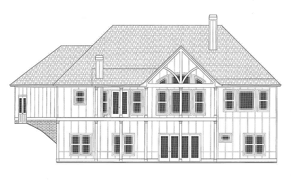 Country, Craftsman, French Country House Plan 52005 with 4 Beds, 4 Baths, 3 Car Garage Picture 16