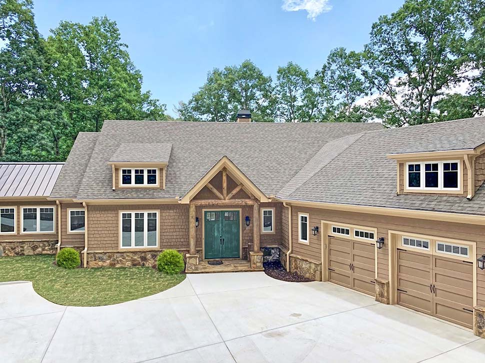 Craftsman House Plan 52009 with 4 Beds, 4 Baths, 3 Car Garage Picture 1