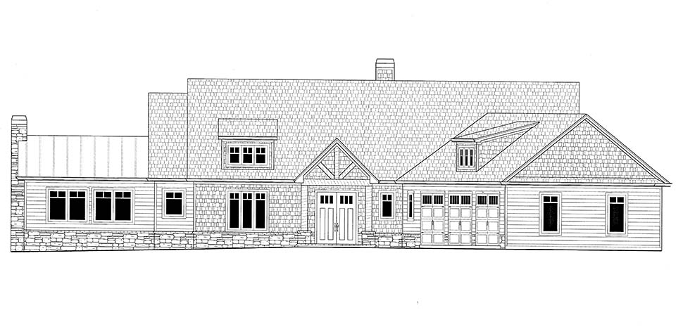 Craftsman House Plan 52009 with 4 Beds, 4 Baths, 3 Car Garage Picture 2