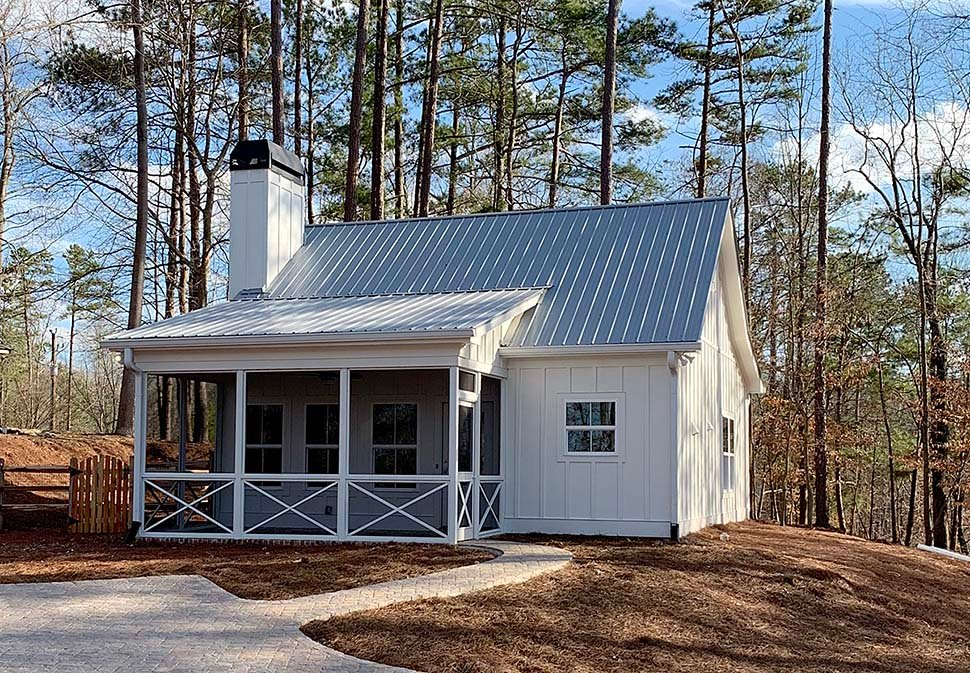 Cabin, Cottage, Country House Plan 52011 with 1 Beds, 1 Baths Elevation
