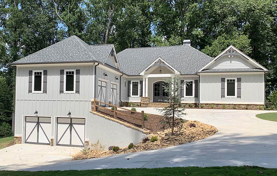 Country, Craftsman House Plan 52018 with 4 Beds, 4 Baths, 4 Car Garage Elevation