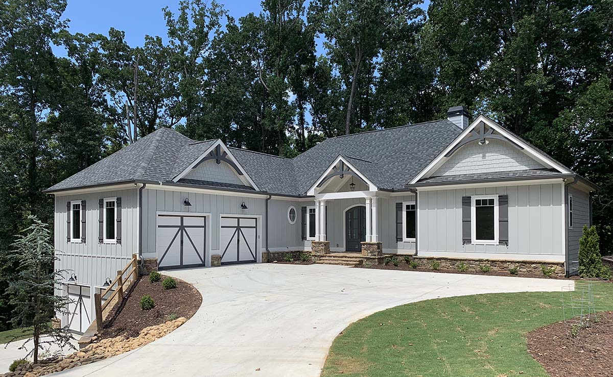 Country, Craftsman House Plan 52018 with 4 Beds, 4 Baths, 4 Car Garage Picture 1