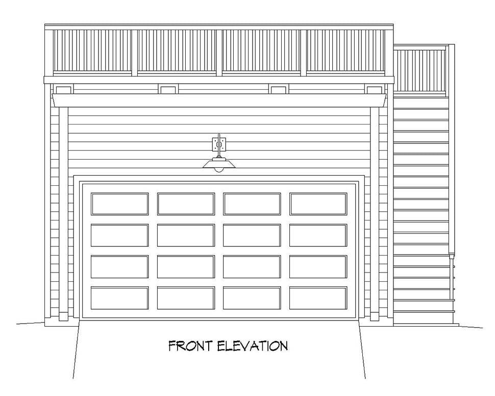 2 Car Garage Plan 52107 Picture 3