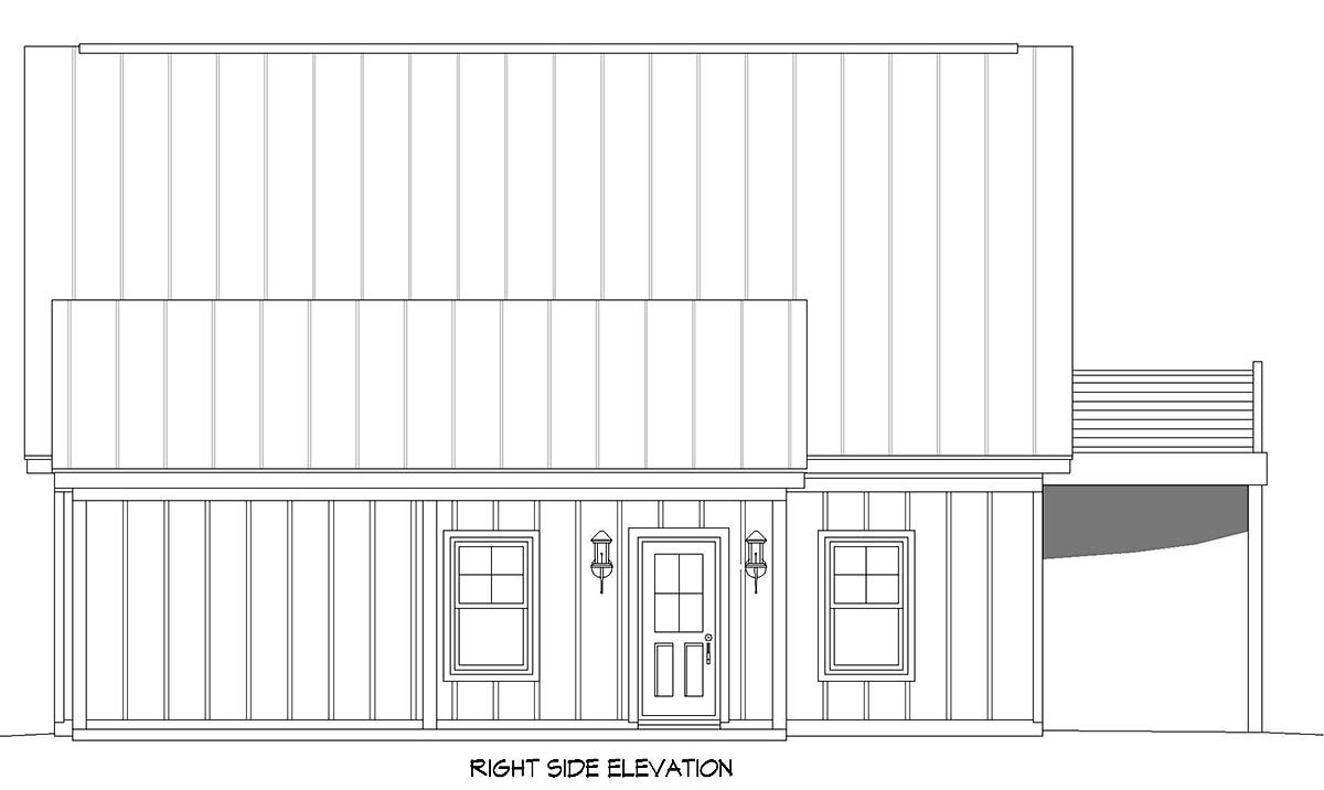 Bungalow, Country, Craftsman, Traditional 2 Car Garage Apartment Plan 52113 Picture 1